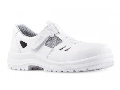 Biele bezpečnostné sandále s oceľovou špičkou  ARMEN 9008 1010 S1 SRC