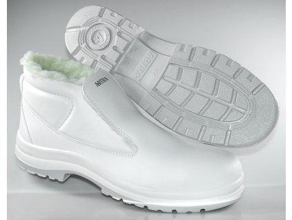 Biela zateplená obuv S2 výrobcu ARTRA v modele Aragonit