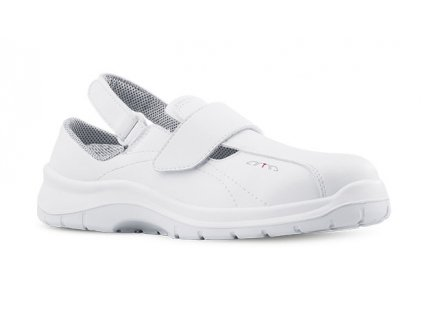 Biele pracovné sandále ARIA 604 1010 OB A E FO SRC