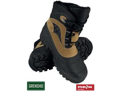 RW00-BSNOW-WOOD Zateplená obuv