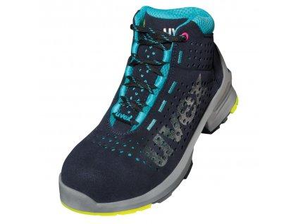 Moderná členková ESD dámska  pracovná obuv s bezpečnostnou špičkou UVEX 8563  S1 SRC