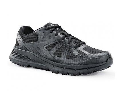 detailný bočný pohľad na čiernu obuv Endurance II