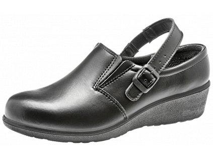Dámske kožene pracovné ESD sandále Susan Black