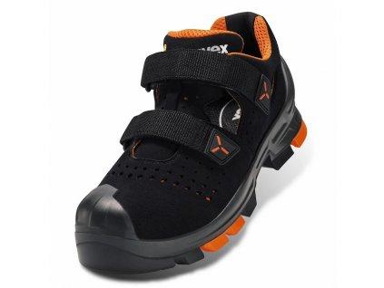 Deatilný pohľad na bezpečnostné sandále s plastovou špičkou uvex 2 S1 P SRC