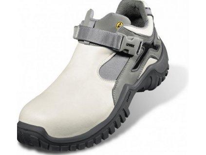 Biela bezpečnostná obuv S1 s bezpečnostnou špičkou UVEX XENOVA HYGIENE 6927 S1 SRC