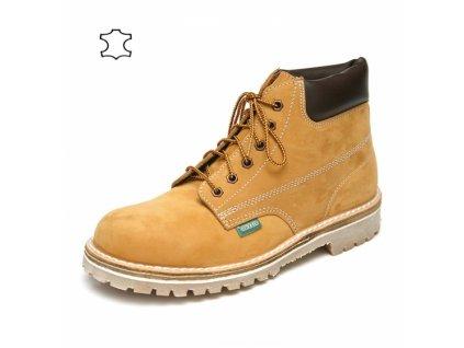 pracovná obuv farmárka pieskovej farby Flexiko