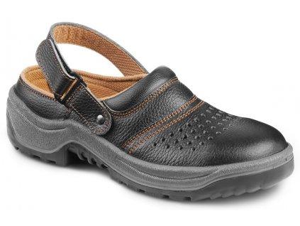 Čierne bezpečnostné sandále s oceľovou špičkou ARNO 901 AIR 6060 SB A E SRC