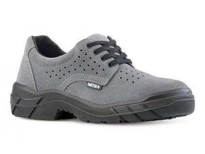 Šedá pracovná obuv z brúsenej kože výrobcu ARTRA v modele ARAM 921 AIR 2460 O1 FO SRC