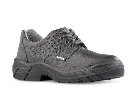 Čierna kožená pracovná obuv výrobcu  ARTRA v modele ARAM 921 AIR 6060 O1 FO SRC