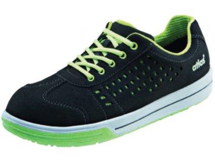 Bezpečnostné ESD perforované semišové poltopánky športoveno vzhľadu ATLAS Sneaker A240 ESD S
