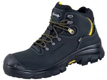 Bezpečnostná členková obuv s vibramovou podrážkou, plastovou špičkou a planžetou CanadianLine Rom S3