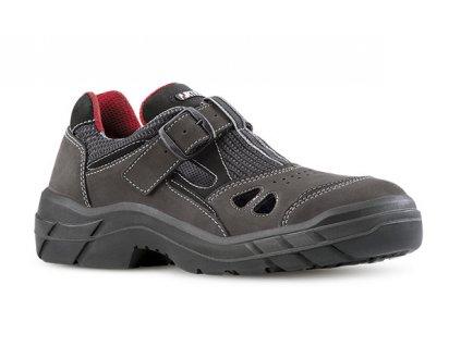 Hnedé kožené pracovné sandále ARTRA model ARAD 902 2560 O1 FO SRC