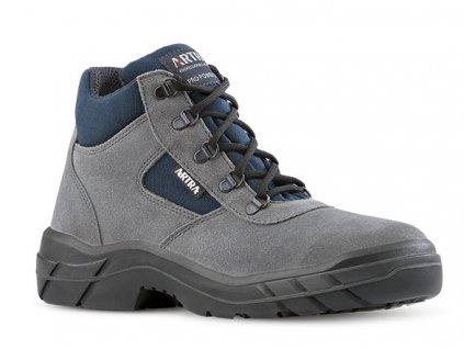 Členková pracovná obuv s oceľovou špičkou od výrobcu ARTRA v modelovom prevedení ARCHA 942 2460 S1 SRC