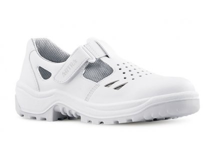 Biele bezpečnostné sandále s oceľovou špičkou ARMEN 900 1010 S1 SRC