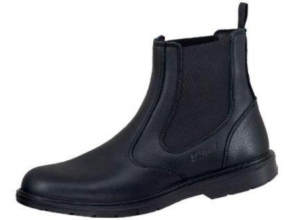 Kožená voľnočasová obuv Schlupfstiefel schwarz 58763