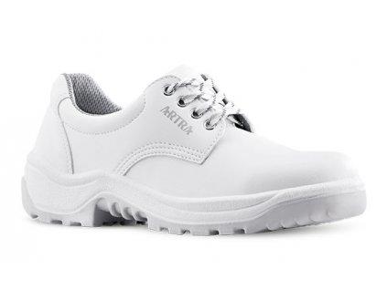 Biela pracovná obuv z kvalitnej kože výrobcu ARTRA v modele ARAM 921 1010 O2 FO SRC