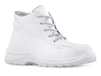 Biela členková pracovná obuv bez oceľovej špičky ARZAWA 641 1010 O2 FO SRC 9ce1167e95