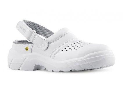 Biele bezpečnostné ESD  sandále  ARNO 901 AIR 1010 OB A E  FO ESD