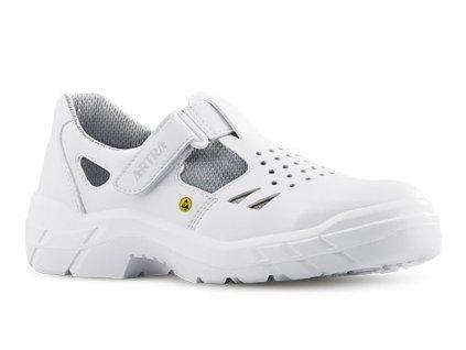 Biela bezpečnostná ESD obuv s oceľovou špičkou ARMEN 900 1010 S1 SRC ESD