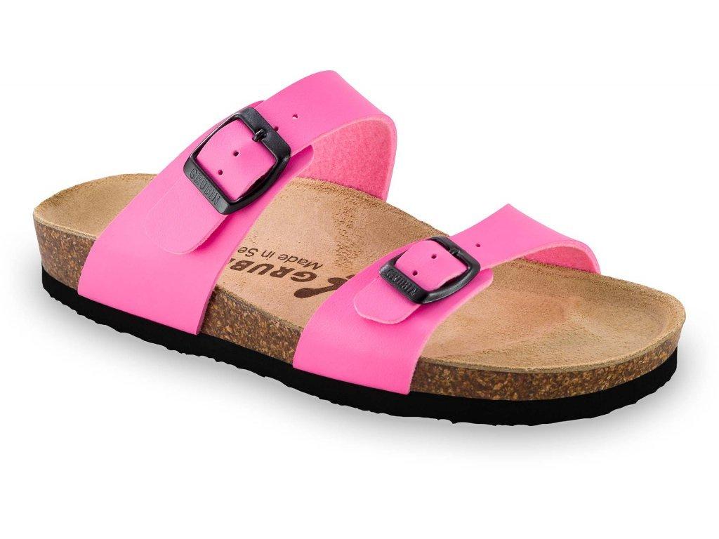 Grubin zdravotní obuv Edith dámské pantofle růžové 0873640