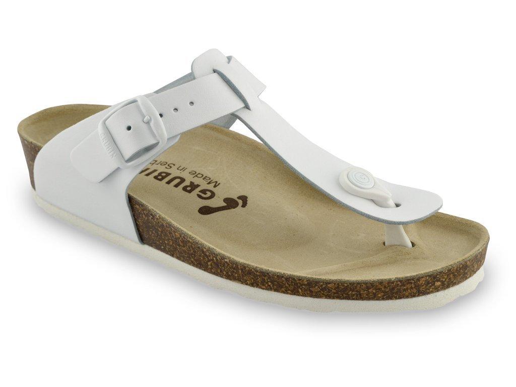 Grubin zdravotní dámská kožená obuv Sayonara žabky bílé 1023650