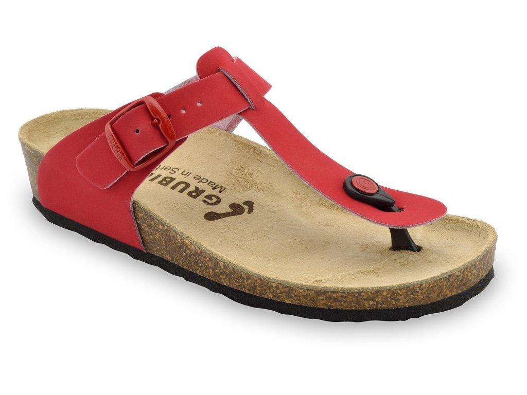 Grubin zdravotní dámská kožená obuv Sayonara žabky červené 1023650