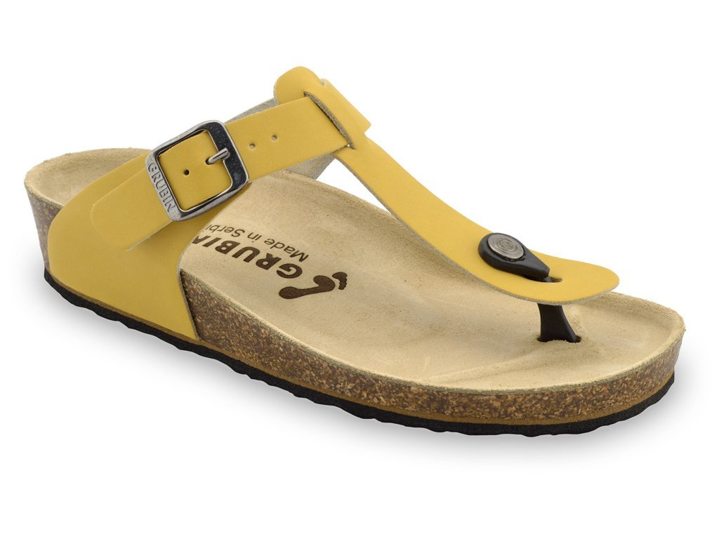 Grubin zdravotní dámská kožená obuv Sayonara žabky žluté 1023650