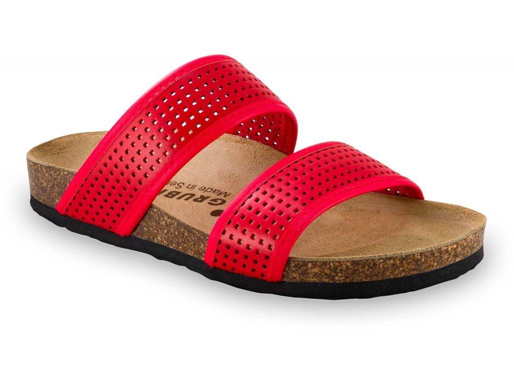 Grubin zdravotní kožená obuv Marta červená 2933650