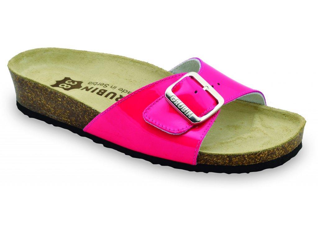 Grubin zdravotní dámská kožená obuv Madrid pantofle ružová 0043570