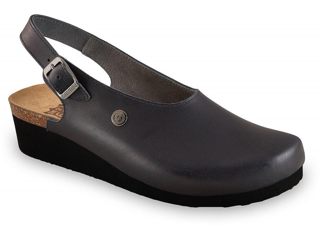 Grubin zdravotní dámská kožená obuv Stanley černá 1013610