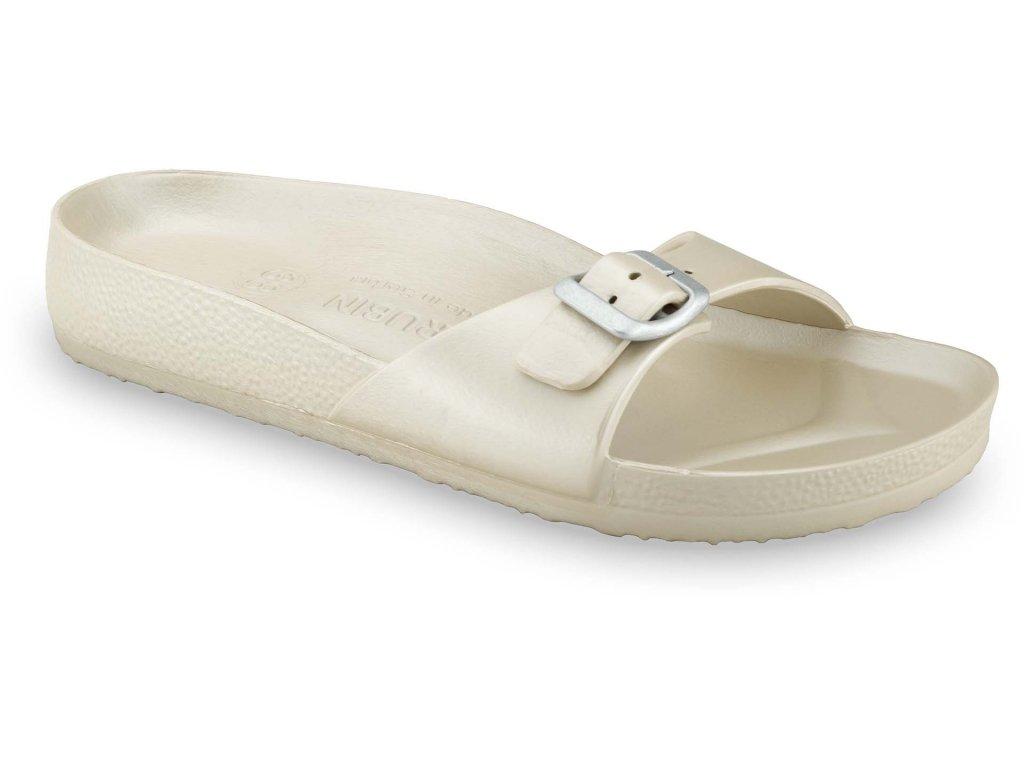 Grubin pantofle Madrid light syntetická dámská obuv zlatá 3043700