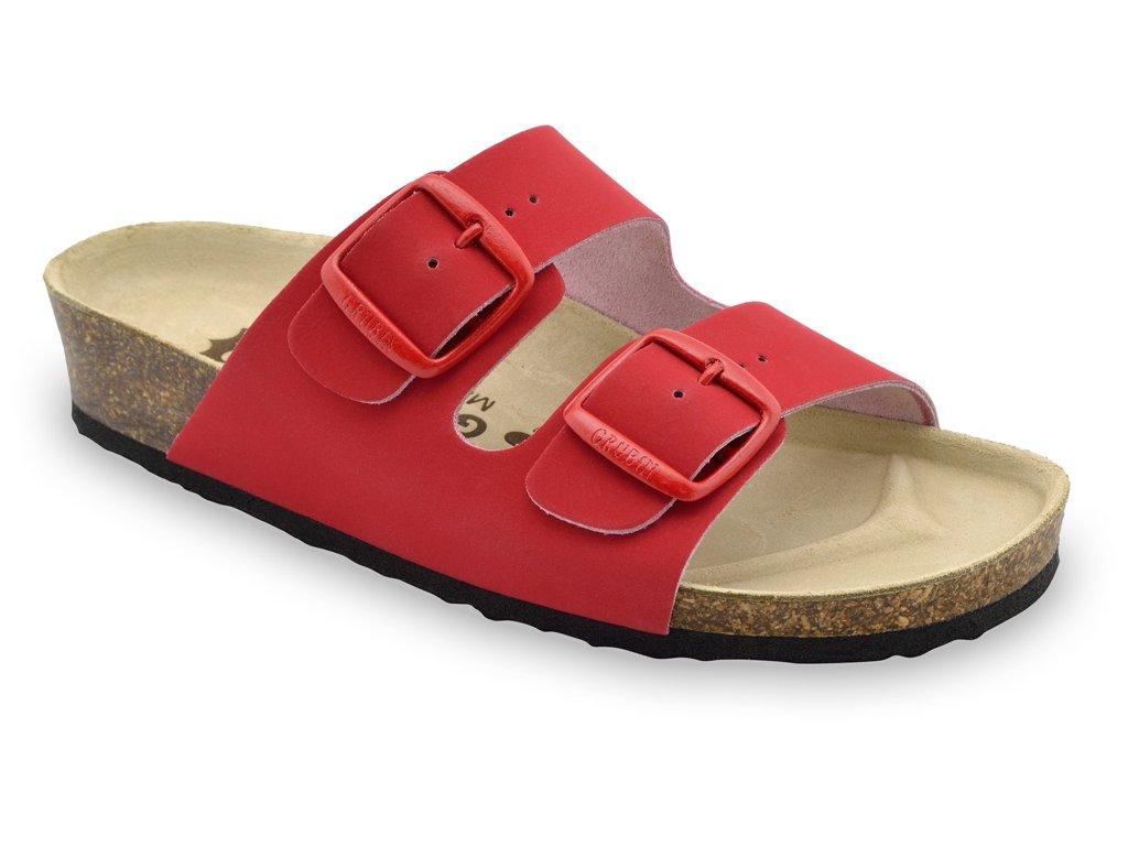 Grubin zdravotní kožená obuv Arizona červená 0033550