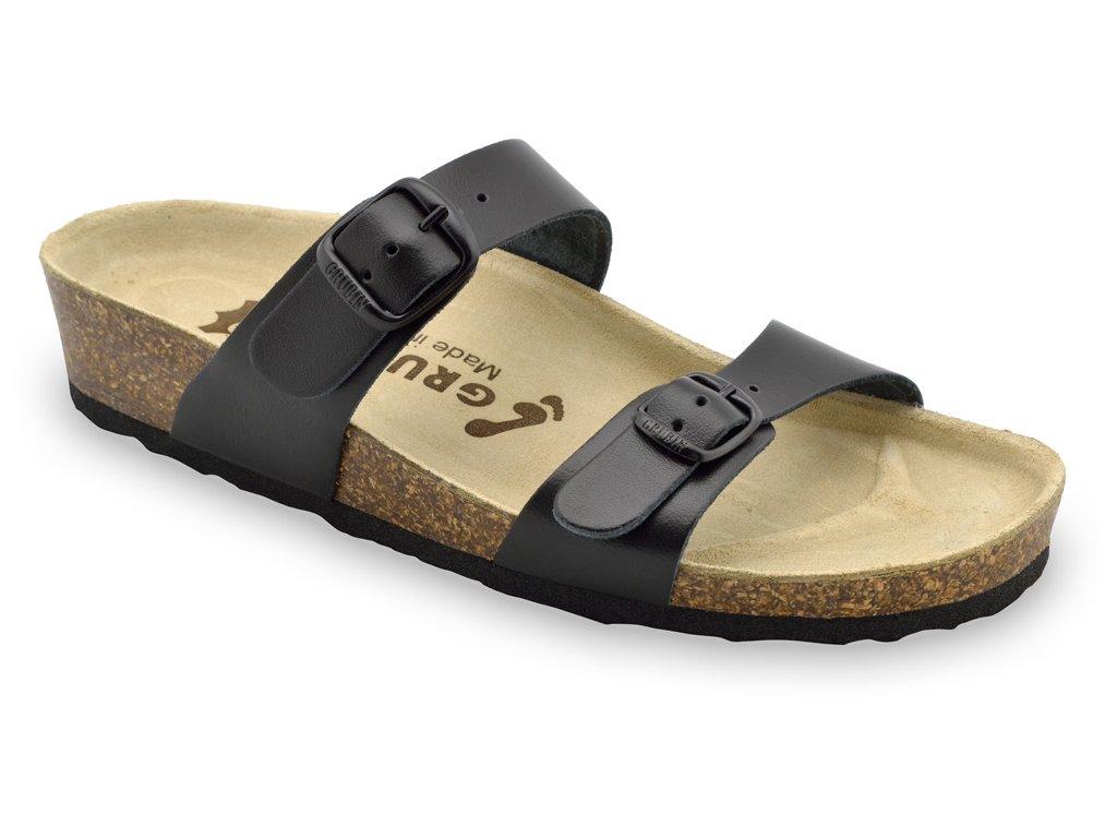 Grubin zdravotní kožená obuv Edith černá 0873550