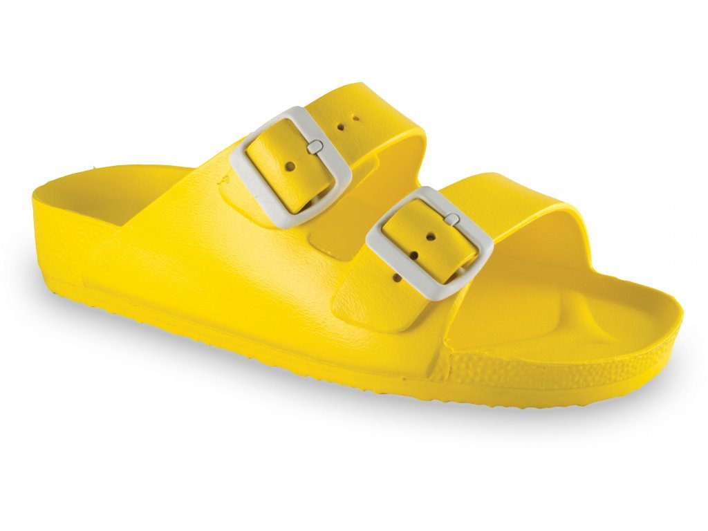 Grubin pantofle Kairo light dámská syntetická obuv žlutá 3233700