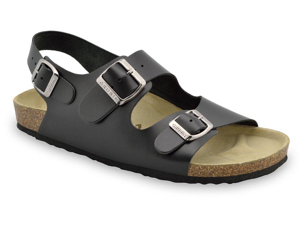 Grubin zdravotní pánská kožená obuv Milano sandále 0254050