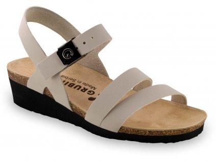 Grubin zdravotní dámská kožená obuv Lucca sandále béžové 1263650