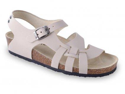 Grubin zdravotní dámská kožená obuv Pisa sandále béžové 0203550
