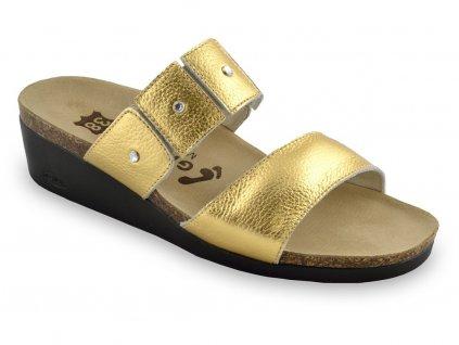 Grubin zdravotní dámská kožená obuv Luisa zlatá 1253690