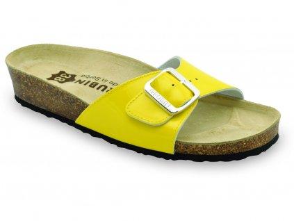 Grubin zdravotní dámská kožená obuv Madrid pantofle žluté 0043570 82b2267519