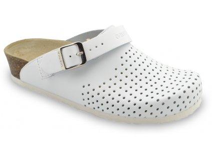 Grubin zdravotní dámská kožená obuv Stockholm pantofle uzavřené bílá 1813660