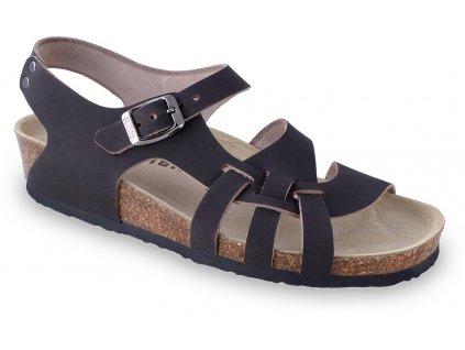 Grubin zdravotní dámská kožená obuv Pisa sandále hnědé 0203550