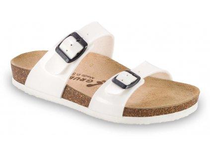 Grubin zdravotní obuv Edith Teen dámské pantofle bílé 0873620