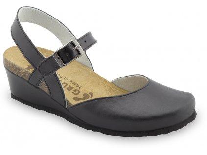 Grubin zdravotní dámská kožená obuv Feliks sandále černé 2323610