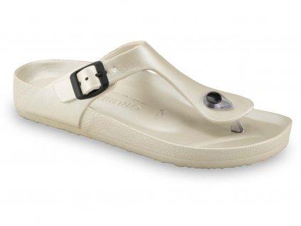 Grubin pantofle Takoma light syntetická dámská obuv zlatá 3933700