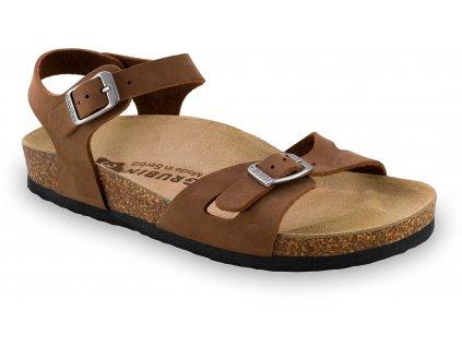 Grubin zdravotní dámská kožená obuv Rio sandále hnědá 0113510