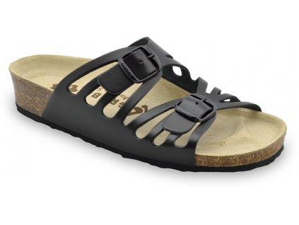 Grubin zdravotní kožená obuv Derby černá 0353550