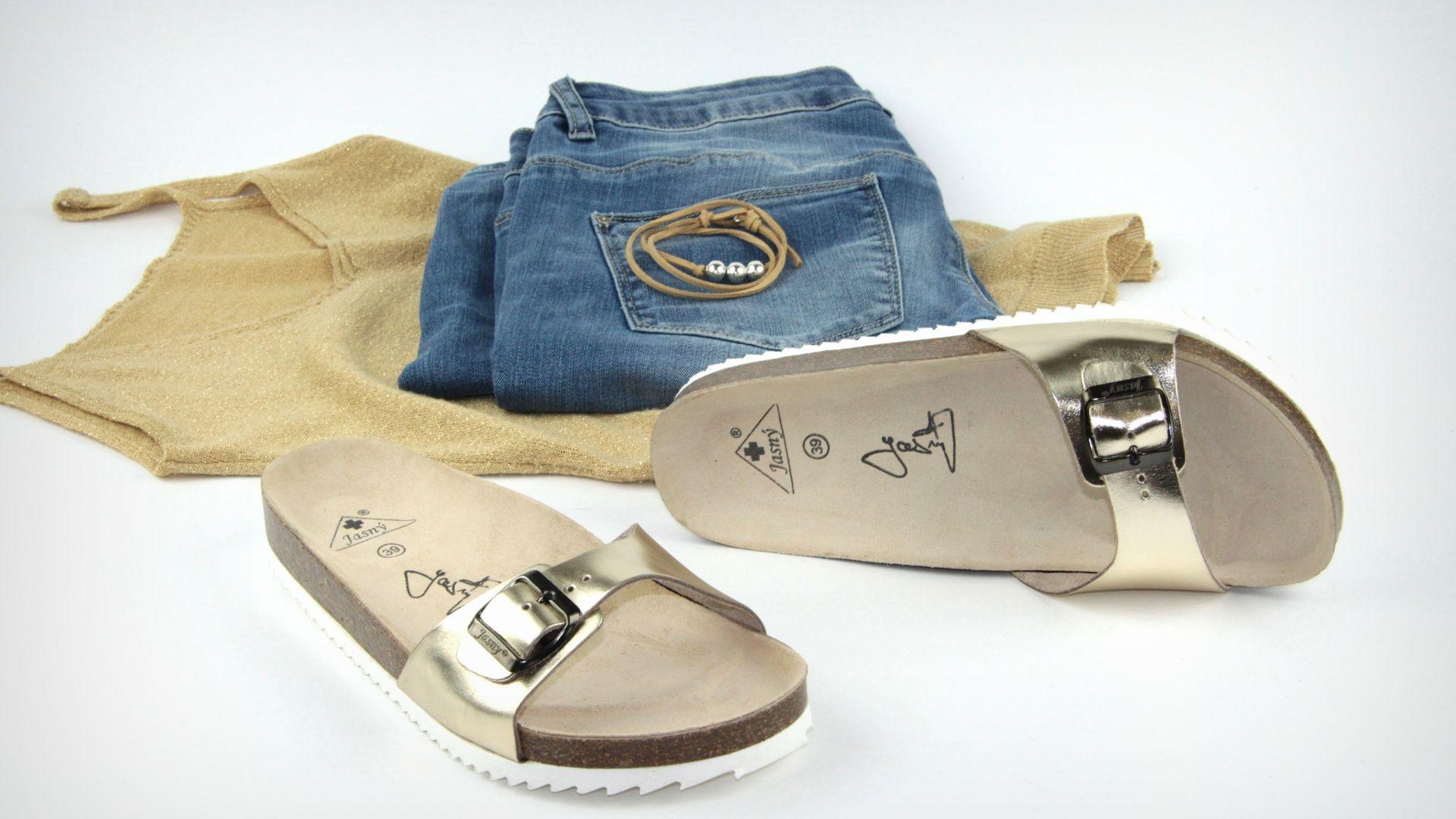 jednopáskové pantofle
