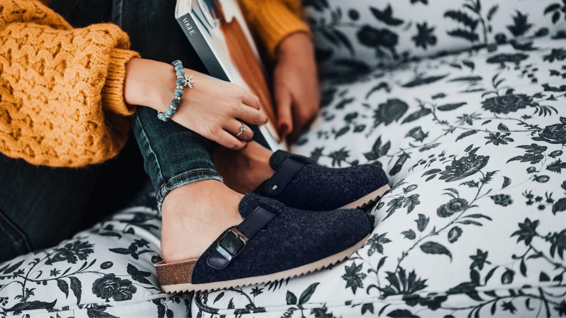 pantofle s plnou špičkou