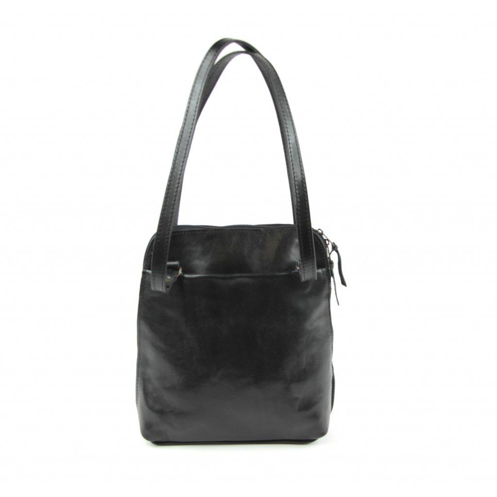 Dámský kožený batoh-kabelka, 21314 černý