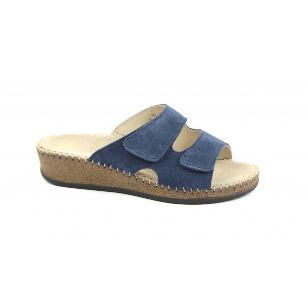 Pantofle EMANUELLE modré, RŠJ 473